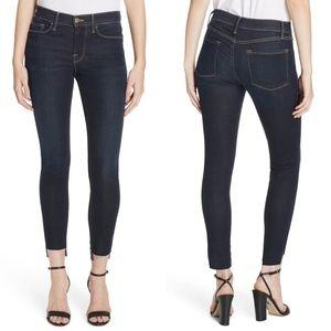 Frame Le Skinny Jeans Raw Step Hem Ankle 24 Edgert